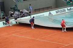 La pluie à Roland-Garros